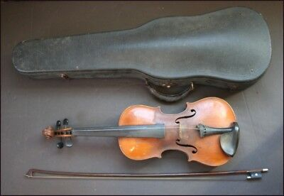 Vintage Violin 4/4 With Bow And Hard Frame Case