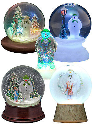 The Snowman Snow dog Snow Globe Light Up Musical Decoration Child Gift Christmas