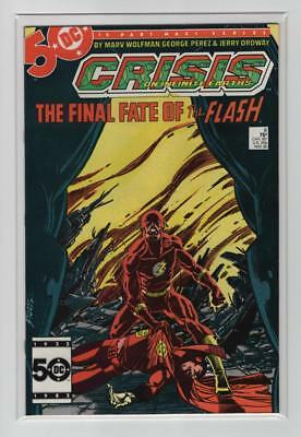 Crisis On Infinite Earths #8 (NM- 9.2)  Death of Flash - Barry Allen, DC 1985