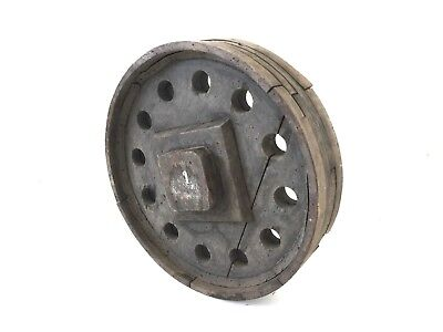 """Vtg 13"""" Wood Wheel Pulley Foundry Mold Pattern Form Industrial Salvage Steampunk"""