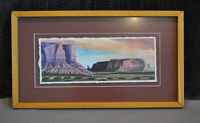 Watercolor Painting - Monument Valley Four Corners AZ - Navajo - Benson Halwood