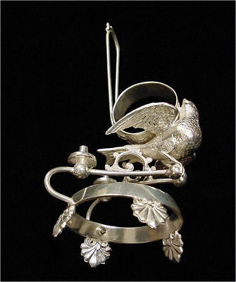 Antique Victorian Figural Bird Silverplate Napkin Ring - NR