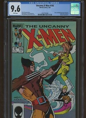 Uncanny X-Men 195 CGC 9.6 | Marvel 1985 | Story Continues From Power Pack 12.