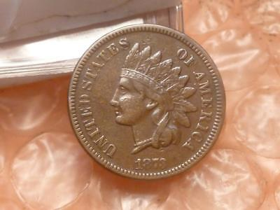 1873 Open 3 Indian Head Penny Has Liberty Part Diamonds Doubling 'ME' AMERICA #1