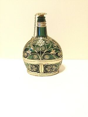 Silver And Copper Antique Bottle
