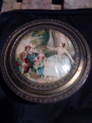 vintage womans powder container