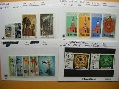 9466 Jamaica Lot of 4 Mint Stamp Packs