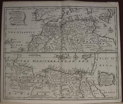 North Africa Canary Islands 1747 Bowen Antique Original Copper Engraved Map