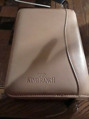 King Ranch leather address book. Running W. Nice soft leather