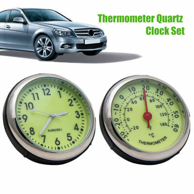 Auto Mini Quarzuhr Zeiger Digitaluhr Mechanik Dekoration Autozubehör Thermometer