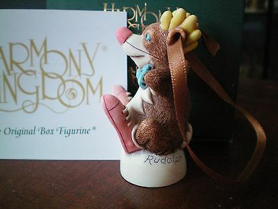 Harmony Kingdom Rudolph Reindeer Christmas Ornament UK Made Timed Edition NEW