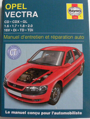 revue technique automobile RTA manuel HAYNES OPEL VECTRA ref 3388