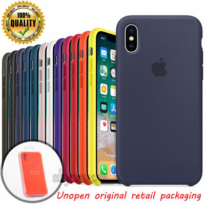 Ultra Thin Genuine Original Silikontasche Case für Apple iPhone X XR 8 7 6S Plus
