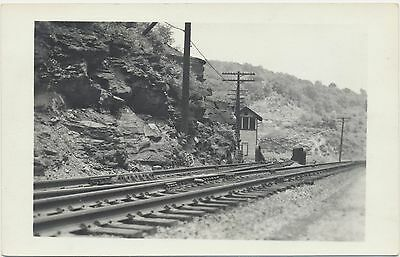 c1950 Vtg Kodak Railroad Station Train Depot Tracks RPPC Real Photo Postcard