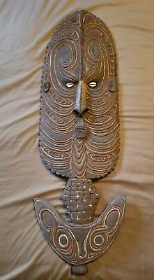 Antique African Carved Wooden Fertility Wall Hanging from Ivory Coast Beautiful