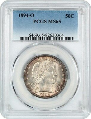 1894-O 50c PCGS MS65 - Barber Half Dollar - Pretty Near-Gem