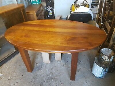 Art Deco Antique Oval Table Restored Blackwood