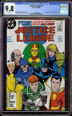 Justice League of America # 1 CGC 9.8 White (DC, 1987) 1st issue of series