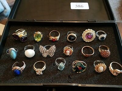 Vintage Art Deco Antique Joblot Of Costume Rings