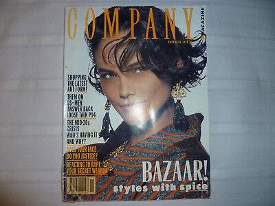 Company Magazine November 1988 Vintage Fashion Vogue