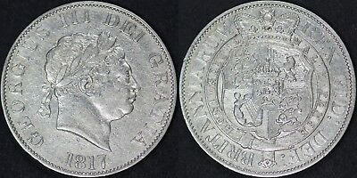 1817 Small Head George III Silver Half Crown High Grade
