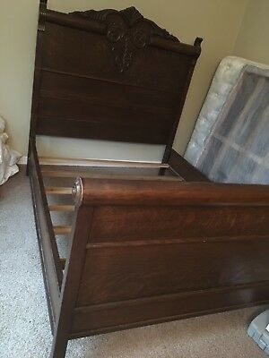 Antique Ornate  Carved  full queen Sleigh Bed  Local Pick up only