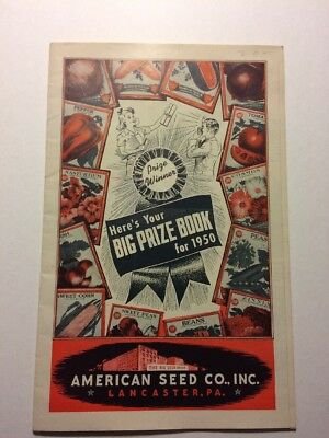 1950 American Seed Co. Big Prize book CATALOG Lancaster PA