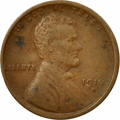 [#530054] Coin, United States, Lincoln Cent, Cent, 1916, U.S. Mint, Denver