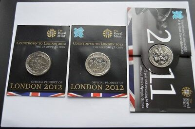 Olympic Five Pounds BU 2009 and 2010 and 2011 (3)