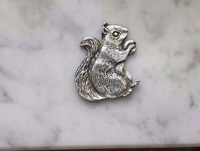 The one who always get his nuts 2 SQUIRREL PEWTER PINS ALL New