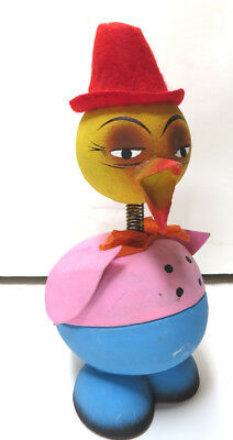 Duck bobble head paper mach duck candy container made in West Germany