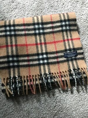 29778daa36af ... discount code for auth burberry london cashmere vintage scarf made in  england classic 4e72f cc27a