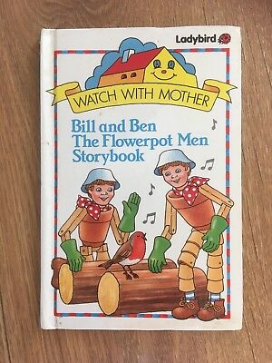 Vintage Hardback Bill And Ben The Flowerpot Men Ladybird 1st Edition