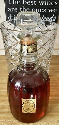 Vintage Jack Daniels Old No 7 Maxwell House Whiskey Glass Decanter Bottle