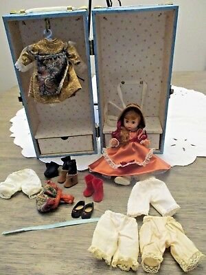 """Vintage Madame Alexander Wendy 8"""" Anne Of Green Gables doll clothes trunk lot"""