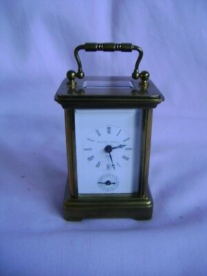 Vintage Matthew Norman Miniature Carriage Clock With Alarm In Gwo