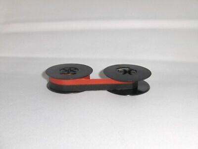 "Universal Typewriter Ribbon 2"" x 1/2 Inch Black and Red Ink Twin Spool SC20BR"