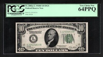 $10 1928B Federal Reserve Note DGS San Francisco PCGS Very Choice New 64PPQ