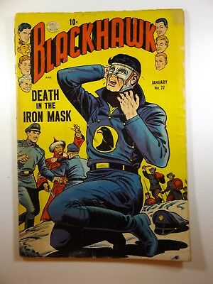 """Blackhawk #72 """"Death In The Iron Mask!"""" GVG Condition Top Staple Pop"""