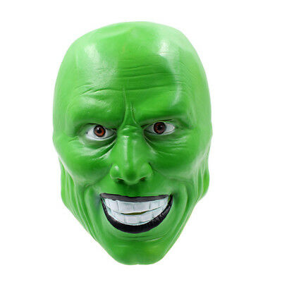 The Mask Movie Jim Carrey Cosplay Green Loki Mask Costume Fancy Halloween Party