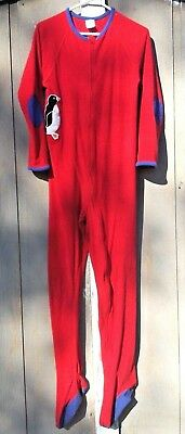 Lands End Kid's Red Footed Blanket Sleeper One-Piece Unisex, Size 16
