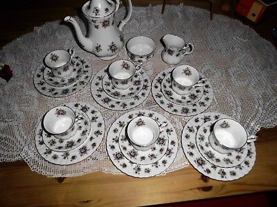 Service Kaffeeservice Royal Albert  England  Sweet Violets