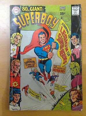 DC Superboy comic - bumper 80 pages - No. 147 - May/June 1968 - vg condition