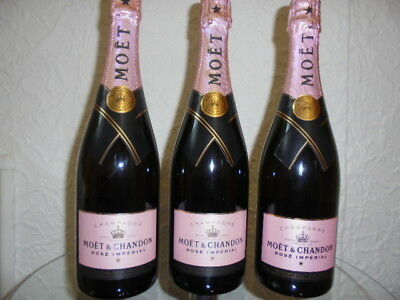 3 x Moet & Chandon Rose Imperial - Champagne - Champagner 750ml Neu
