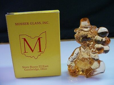 Iffy Mosser Clown Collectible Figurine With Box - Pinkish Orangish Glass