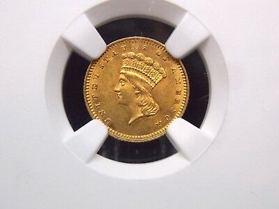 1862 G$1 Gold Dollar Liberty NGC MS60 East Coast Coin & Collectables, Inc.
