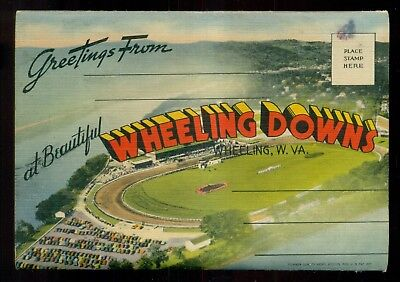 "1940's Wheeling,WV-Wheeling Downs ""Miniature Churchill Downs"" Race Track Folder"