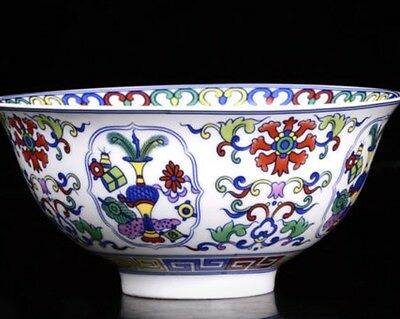 Chinese Porcelain bowl of hand-painted Flower Branches and Leaves Qianlong Mark