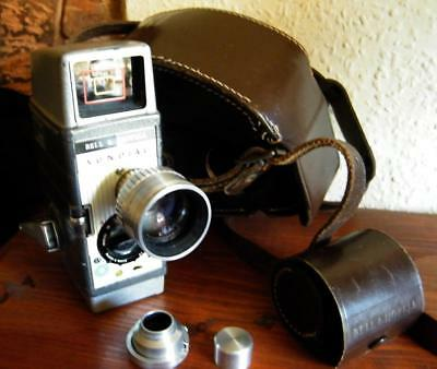 Bell & Howell Sundial 8mm cine camera with case,tele attachment and filter