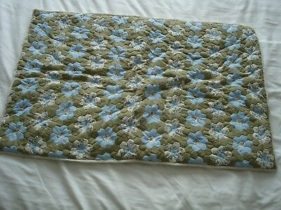 """Vintage Hand Made And Stitched Cot, Crib Or Pram Quilt Approx. 33"""" X 22"""""""